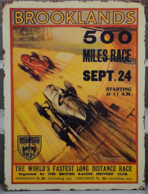 Plaque Emaillee 500 MILES