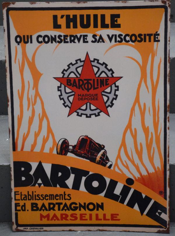 Plaque Emaillee BARTOLINE