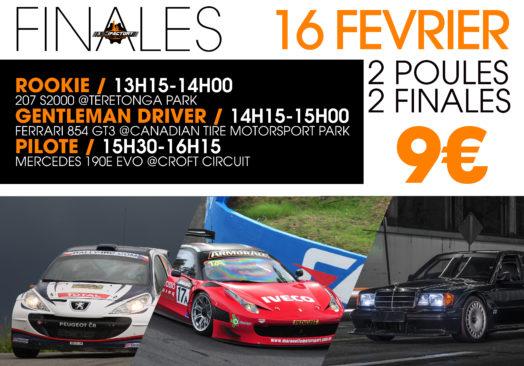 FINALES 207 S2000 / Ferrari 854 GT3 / Mercedes 190E EVO