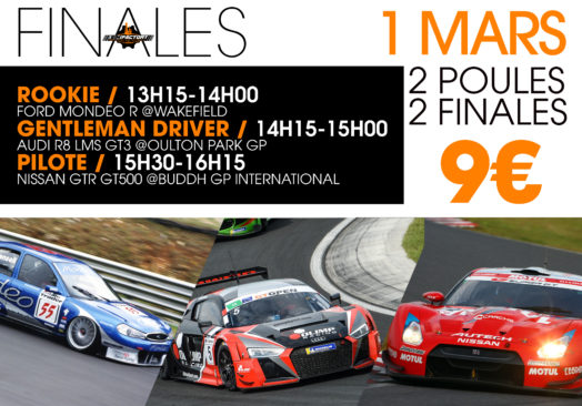 FINALES Ford Mondeo R / Audi R8 GT3 / Nissan GTR GT500